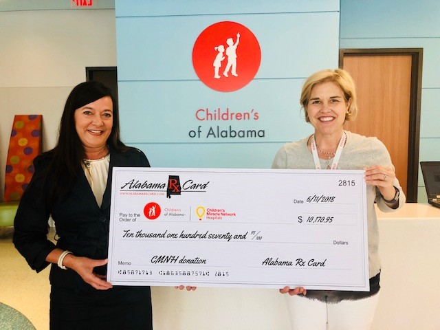 Alabama Rx Card Presents Donation to Children's of Alabama