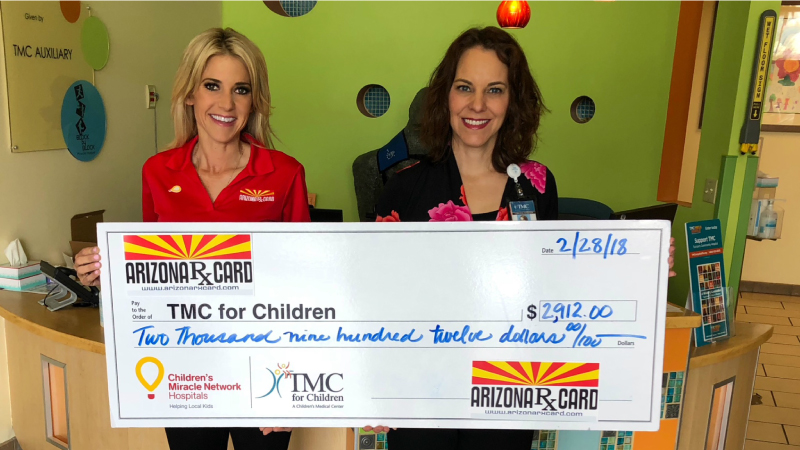 Arizona Rx Card Presents Donation to Tucson Medical Center