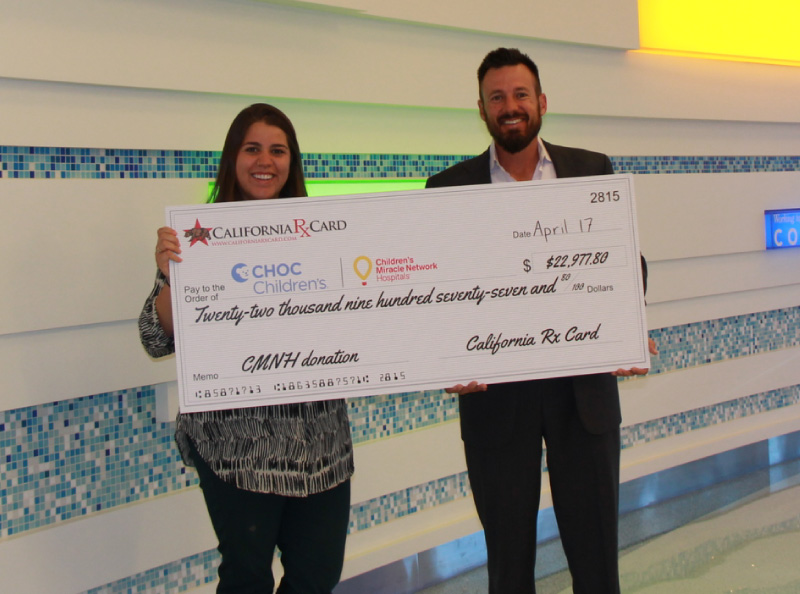 California Rx Card presents donation to Children's Hospital of Orange County