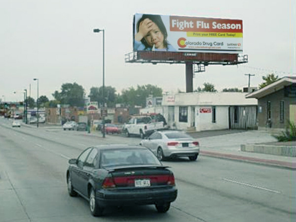 Colorado Drug Card Flu Season Campaign Billboard
