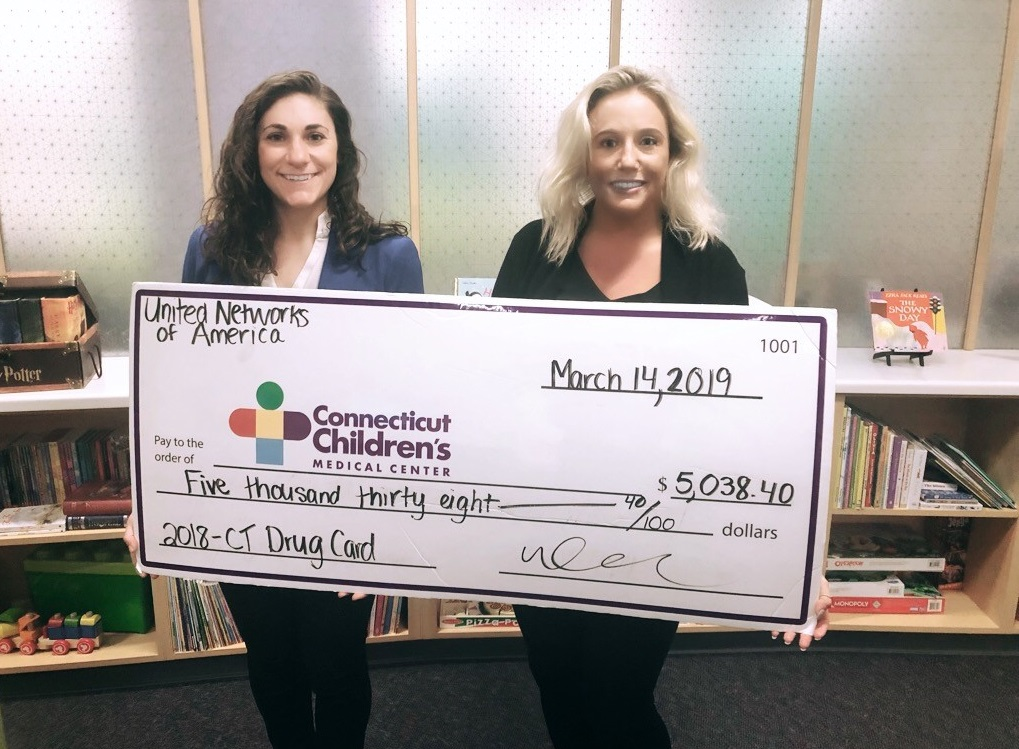 Connecticut Children's Medical Center Receives Support from Connecticut Drug Card and United Networks of America