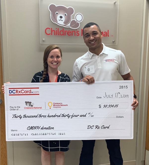 DC Rx Card, Powered by UNA, Presents Donation to Childrens National Hospital in DC