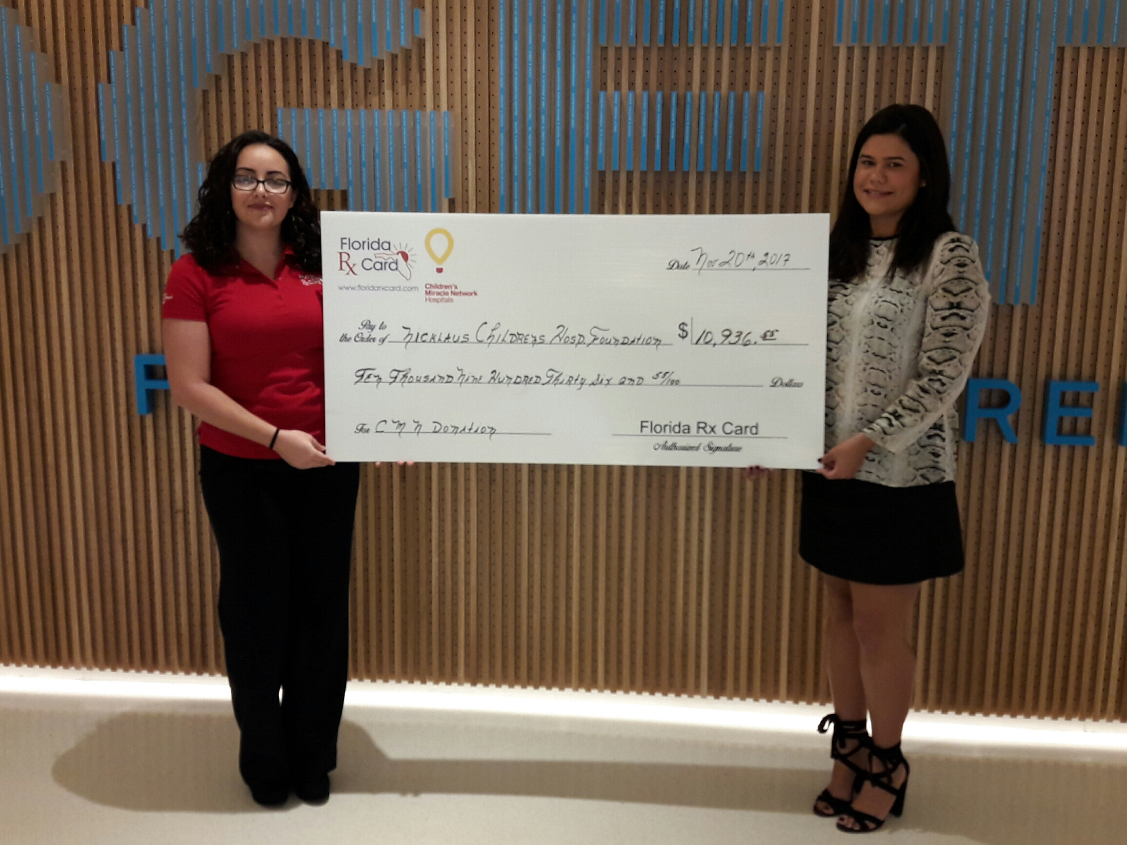 Nicklaus Children's Hospital Foundation Receives Support from Florida Rx Card and United Networks of America
