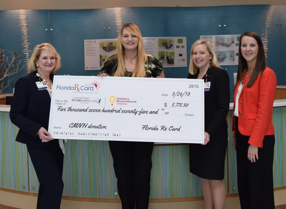 Florida Rx Card and United Networks of America Help Support The Studer Family Children's Hospital