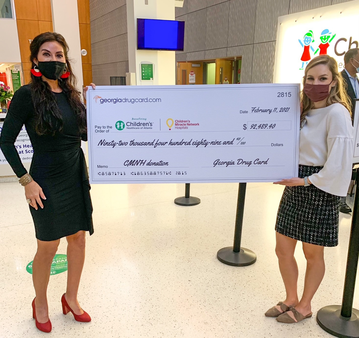 Children's Healthcare of Atlanta Receives Support from Georgia Drug Card, powered by United Networks of America