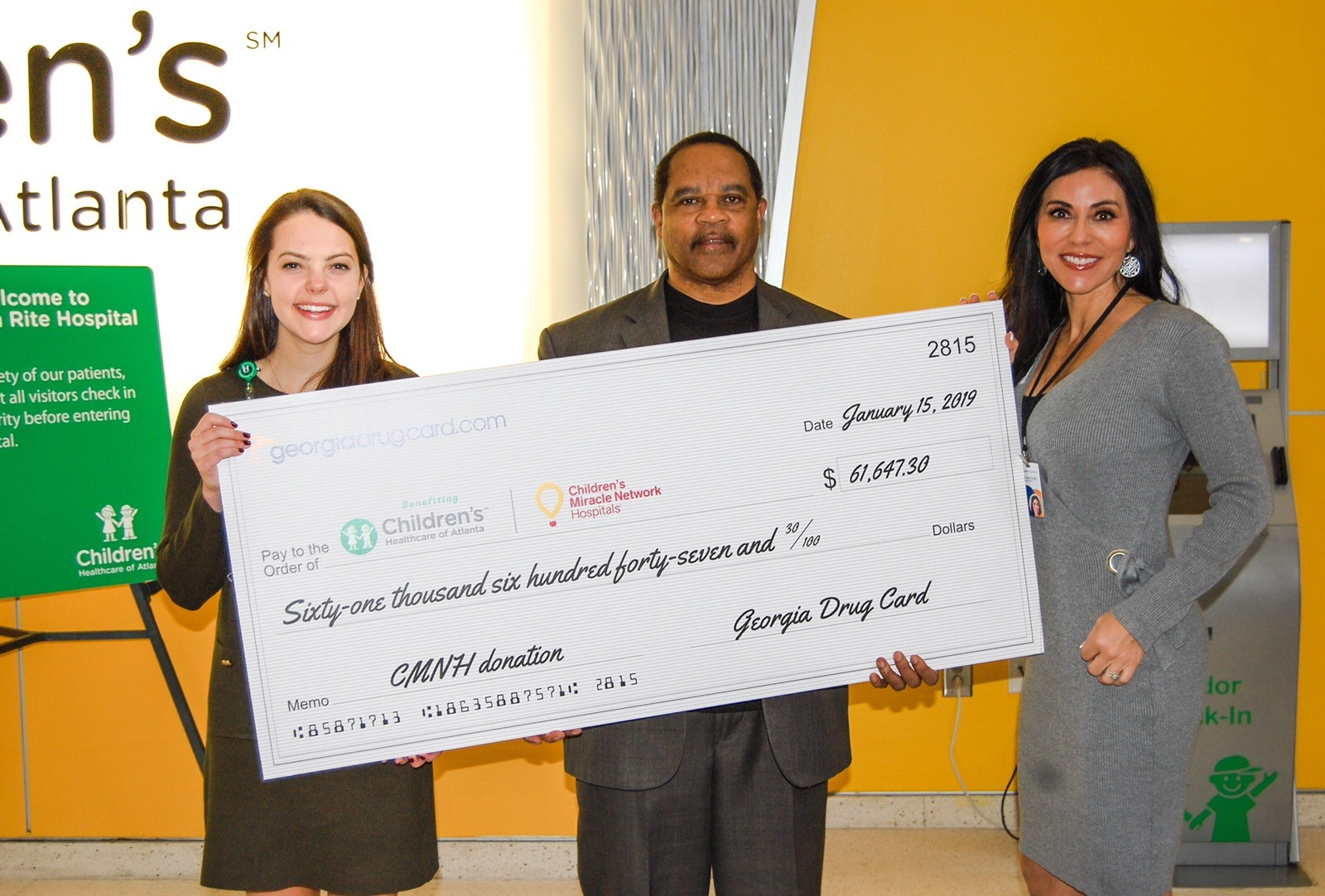 Children's Healthcare of Atlanta Receives Support from Georgia Drug Card and United Networks of America