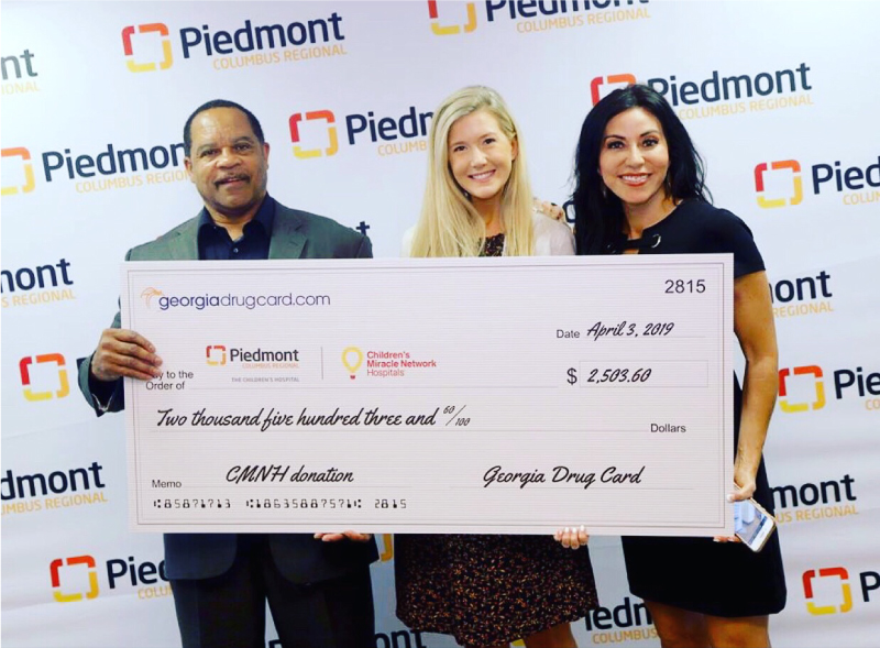 Georgia Drug Card and United Networks of America Help Support Children's Hospital at Piedmont Columbus Regional