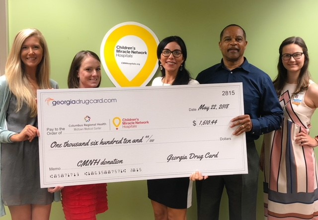 Georgia Drug Card Presents Donation To Piedmont Columbus Regional Hospital Midtown Medical Center
