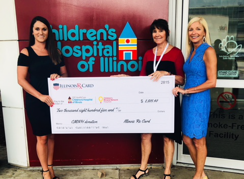 Illinois Rx Card Presents Donation to Children's Hospital of Illinois