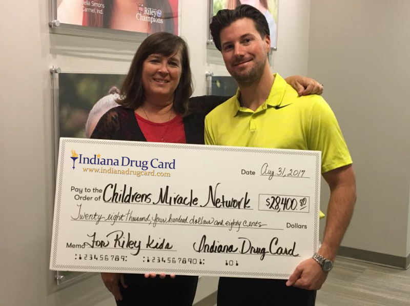 Indiana Drug Card Presents Donation to Riley Hospital for Children