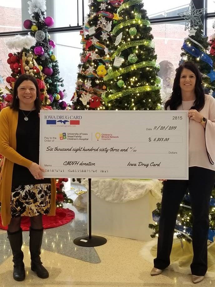 University of Iowa Stead Family Children's Hospital Receives Support from Iowa Drug Card and United Networks of America