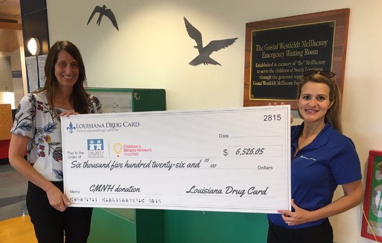 Louisiana Drug Card Presents Donation and Tours Children's Hospital of New Orleans