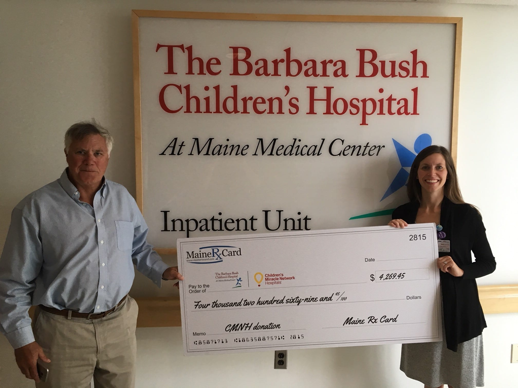 Maine Rx Card, Powered by United Networks of America is a Proud Partner of The Barbara Bush Children's Hospital