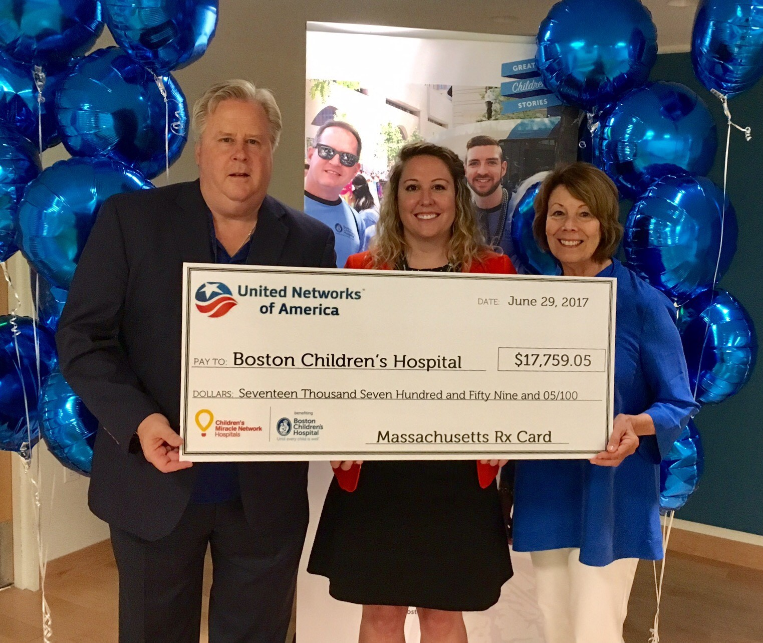 Massachusetts Drug Card donates to Boston Childrens Hospital