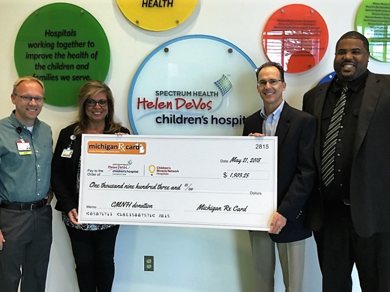 Michigan Rx Card Presents Donation To Helen DeVos Children's Hospital