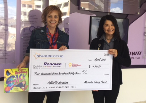 Nevada Drug Card Presents Donation to Renown Children's Hospital