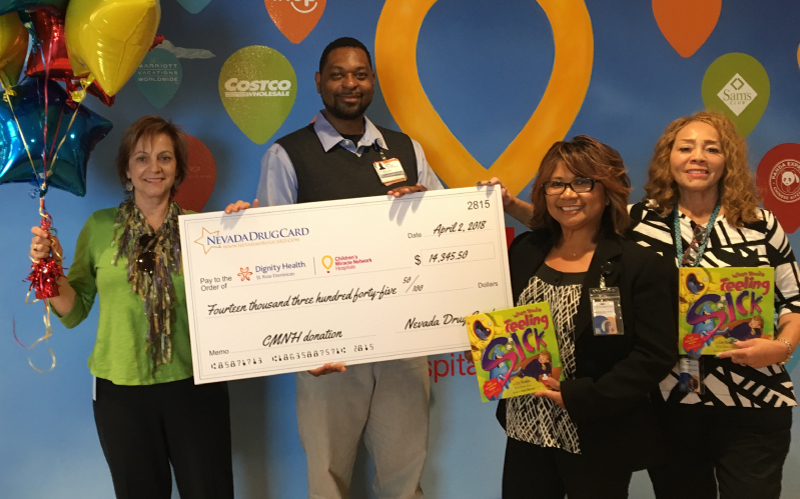 Nevada Drug Card Presents Donation to Dignity Health St. Rose Dominican