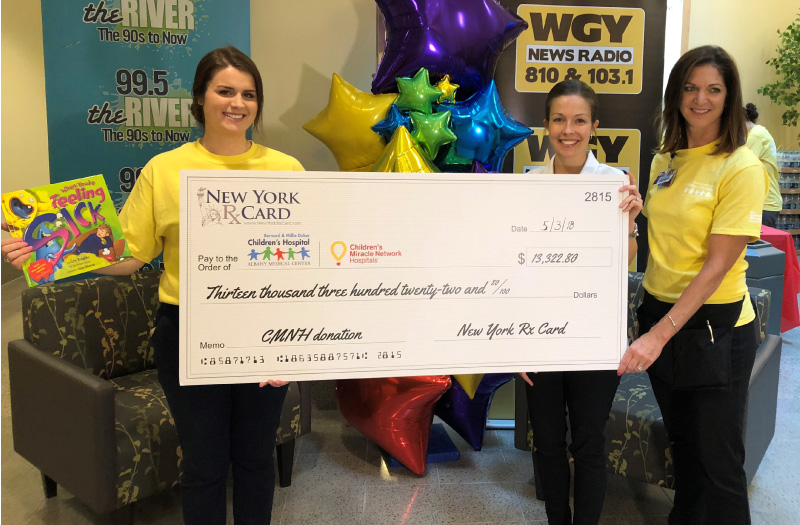 New York Rx Card Attends Radiothon and Presents Donation to Bernard & Millie Duker Children's Hospital at Albany Medical Center