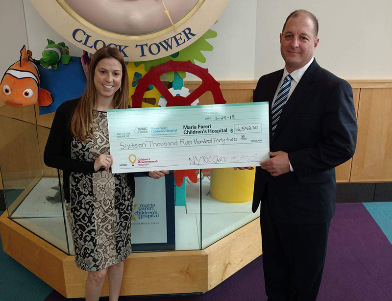 New York Rx Card Presents Donation to Maria Fareri Children's Hospital