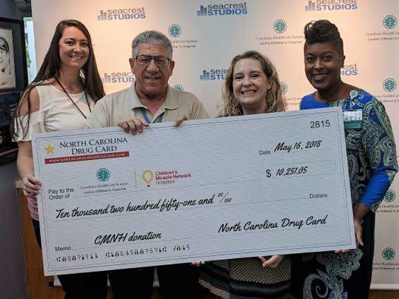 North Carolina Drug Card Presents Donation to Levine Children's Hospital