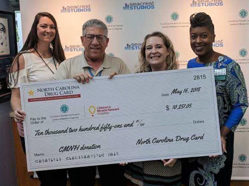 North Carolina Drug Card Presents Donation to Levine Children's Hospital