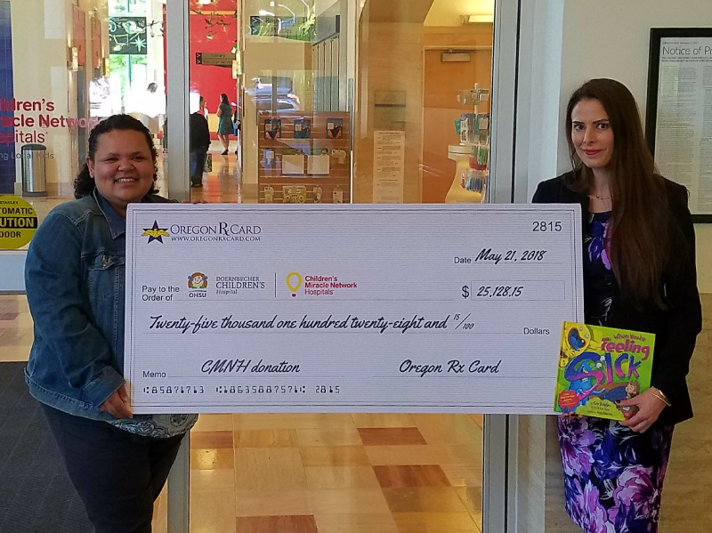 Oregon Rx Card Presents Donation to Doernbecher Children's Hospital
