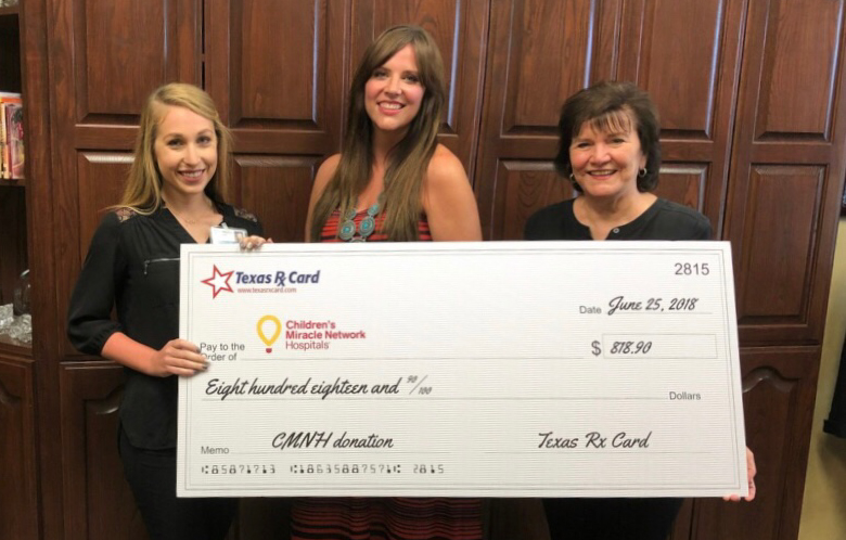 Texas Rx Card Presents Donation to CHRISTUS Southeast Texas Foundation