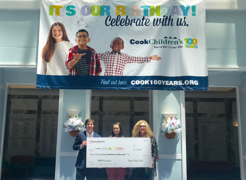 Texas Drug Card Presents Donation to Cook Children's