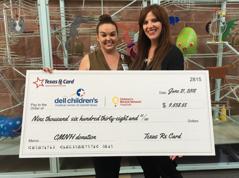 Texas Rx Card Presents Donation and Tours Dell Children's Medical Center of Central Texas
