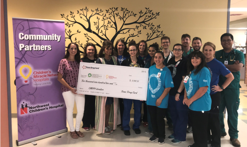 Texas Drug Card Presents Donation to Harrington Cancer and Health Foundation