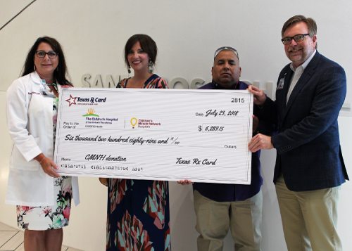 Texas Rx Card Presents Donation and Tours The Children's Hospital of San Antonio Foundation