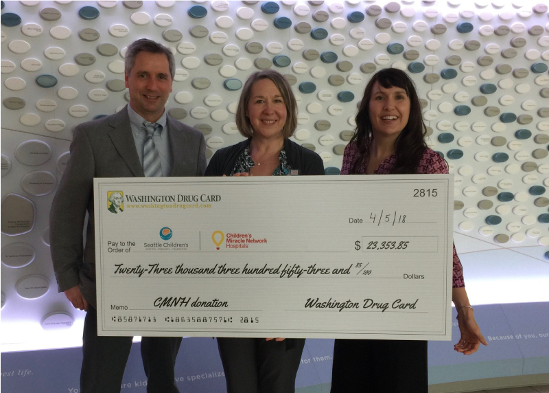 Washington Drug Card Presents Donation to Seattle Children's Hospital