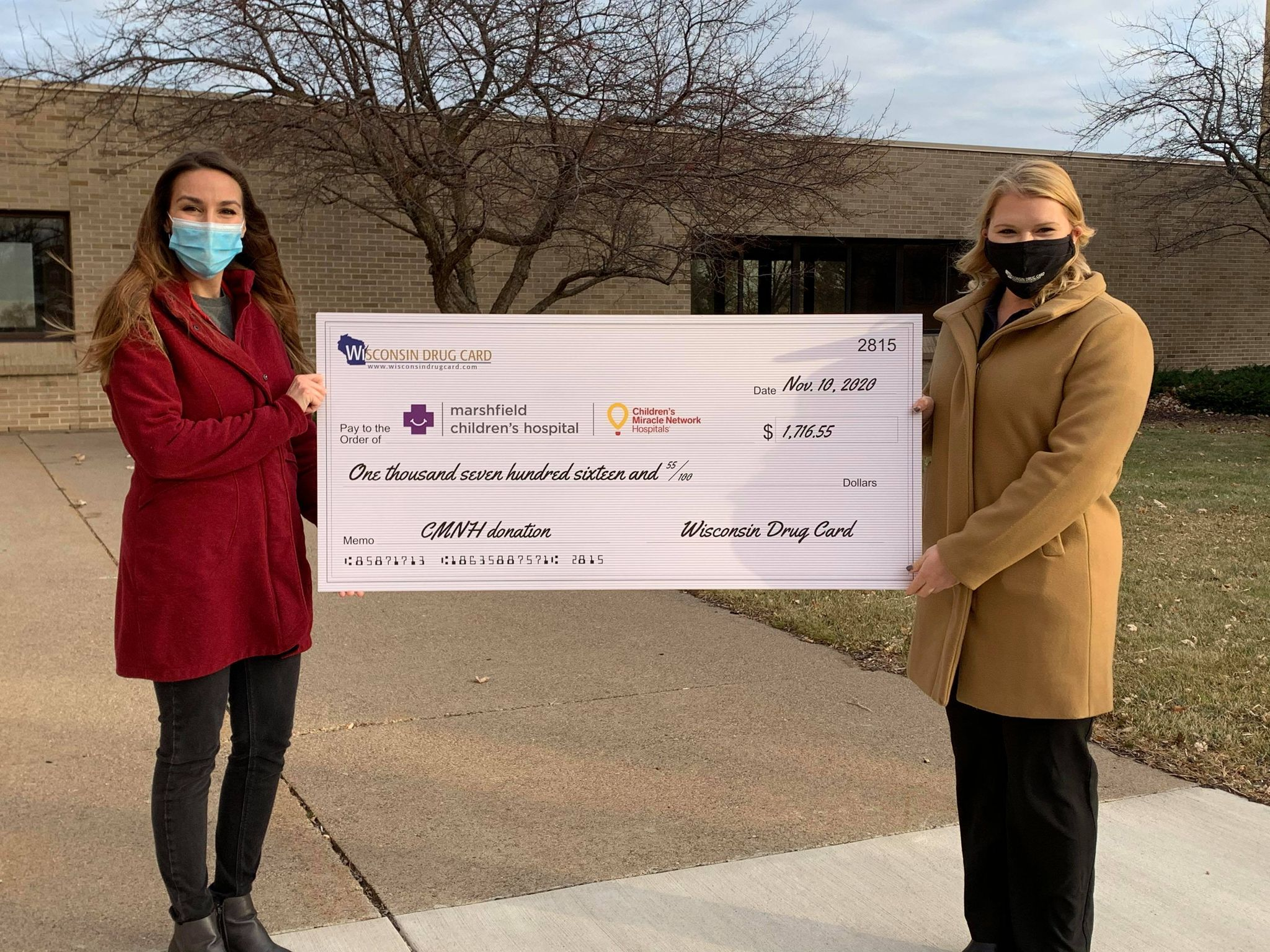 Wisconsin Drug Card and United Networks of America Help Support Marshfield Children's Hospital