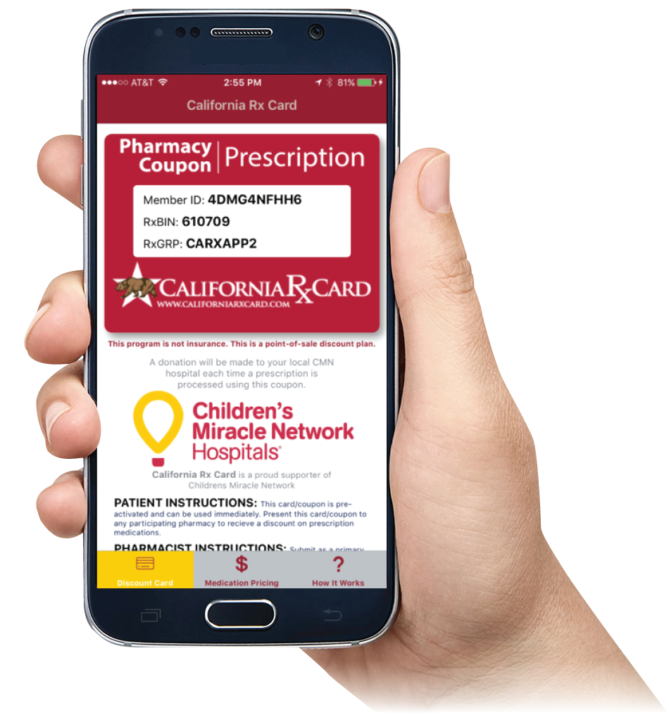 California Rx Card Mobile App