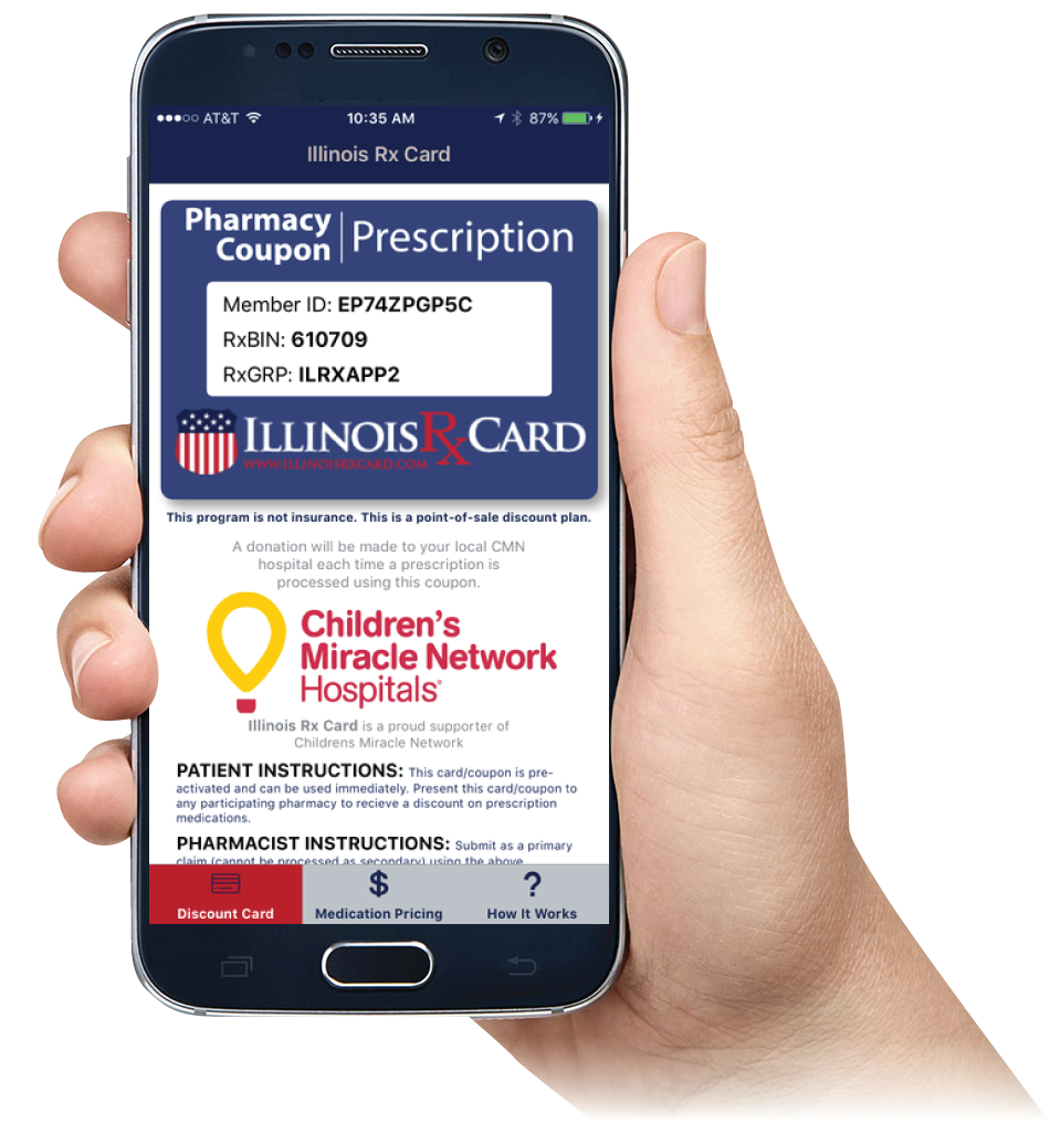 Illinois Rx Card Mobile App