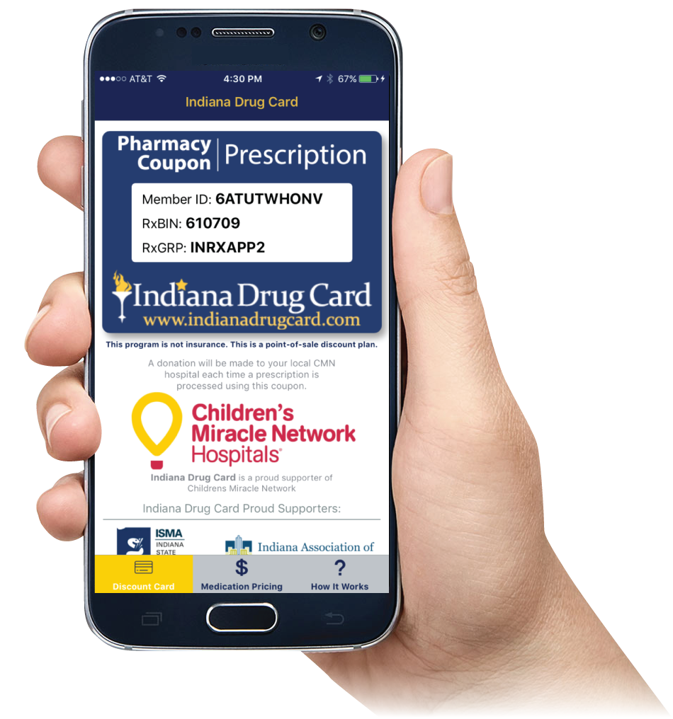 Indiana Drug Card Mobile App