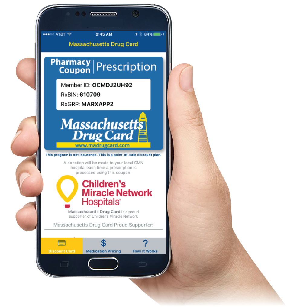 Massachusetts Drug Card Mobile App