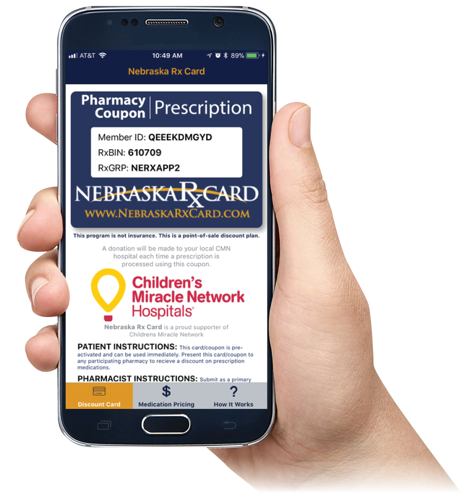Nebraska Rx Card Mobile App