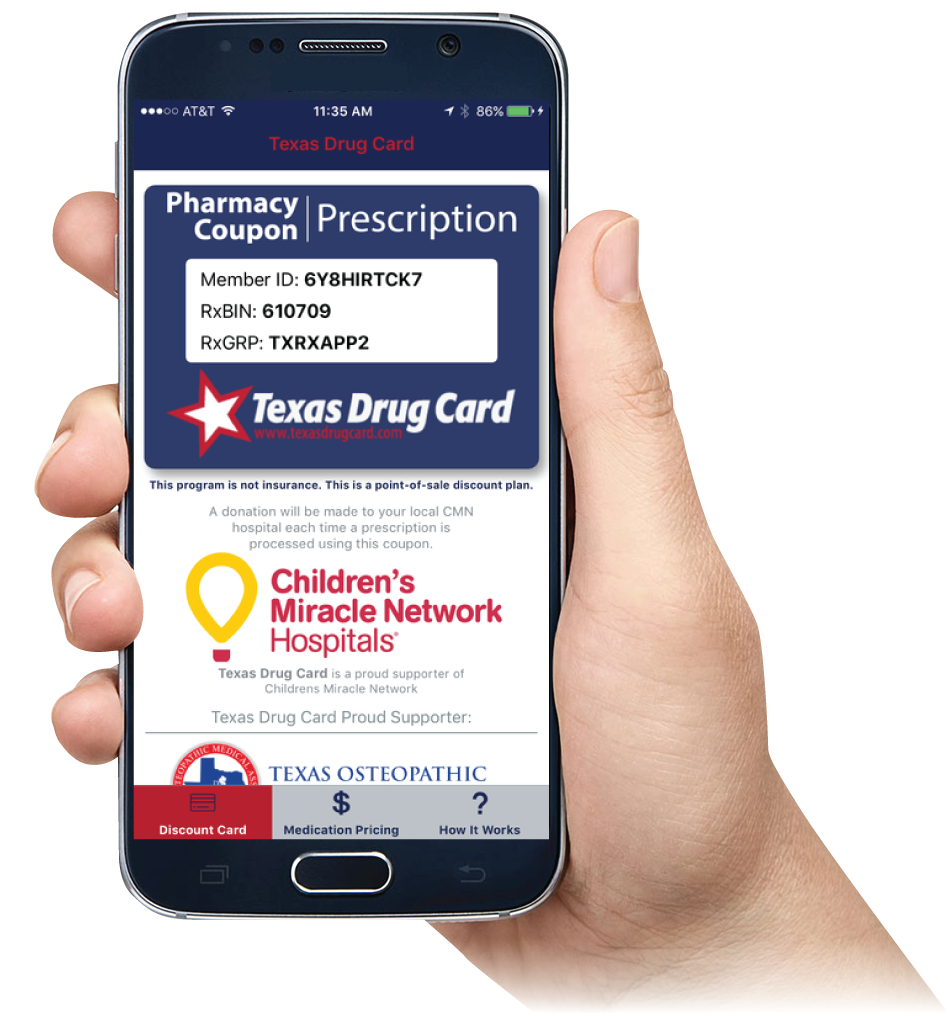 Texas Drug Card Mobile App