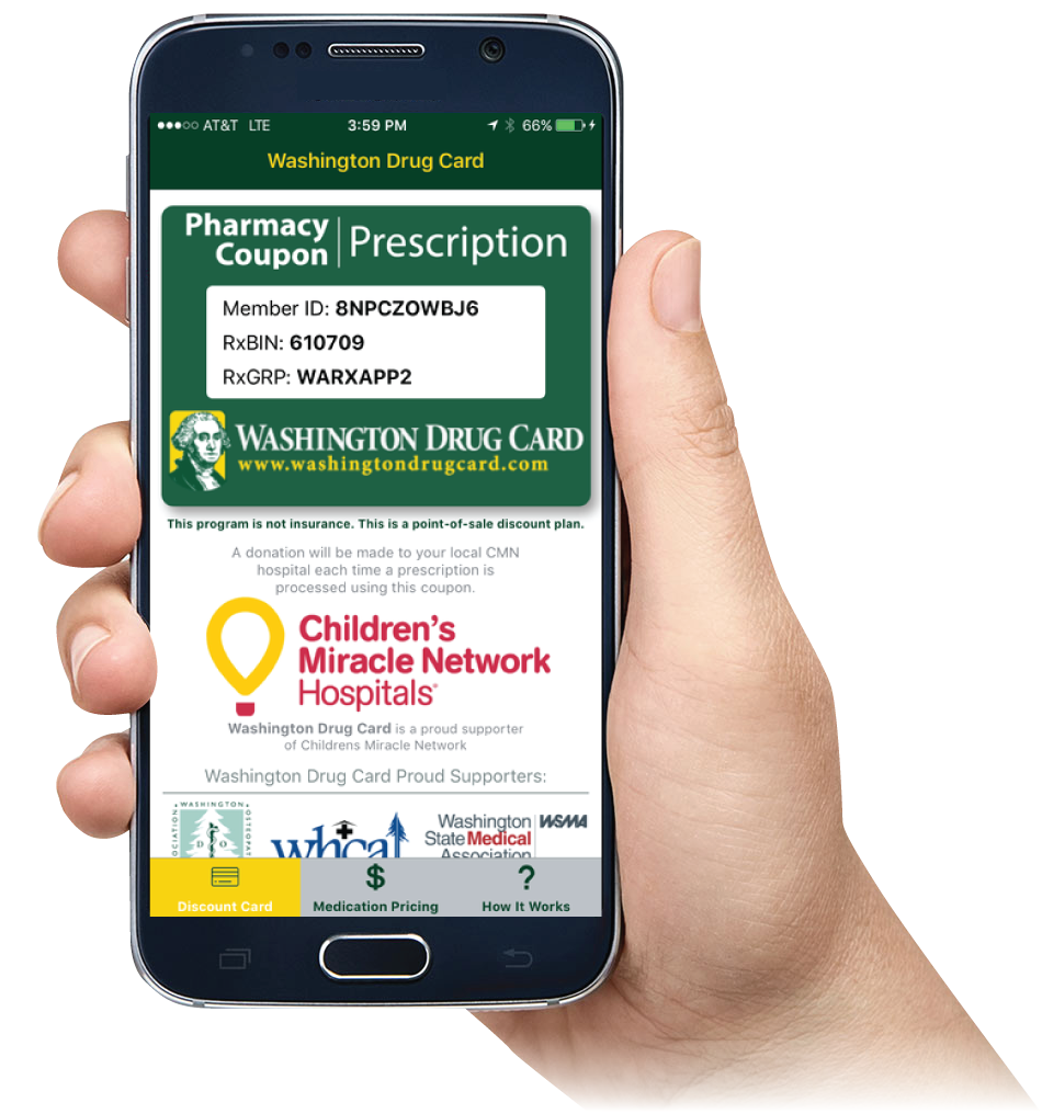 Washington Drug Card Mobile App