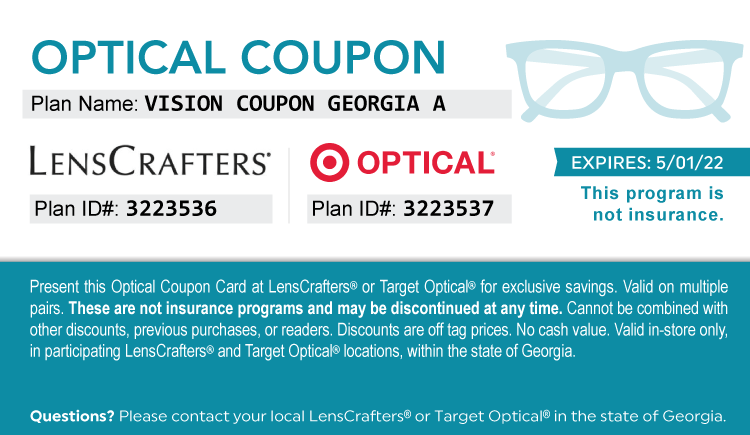 Georgia Drug Card - Free Optical Savings Coupon Card